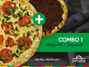 Promoção de Pizza - Combo 1 - Pizza de Marguerita Grande + Pizza Broto de Brigadeiro Artesanal