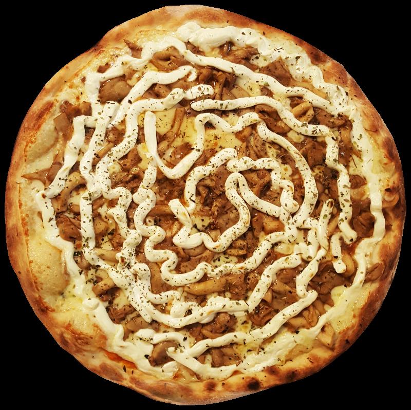 Pizza de Shimeji com Cream Cheese