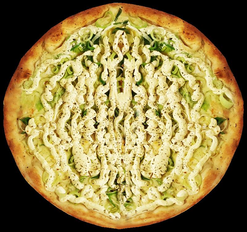 Pizza de Alho Poró com Cream Cheese