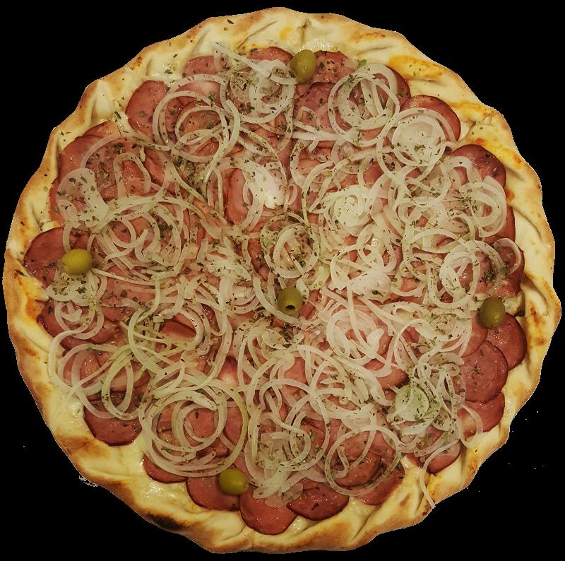 Pizza de Calabresa com Cebola