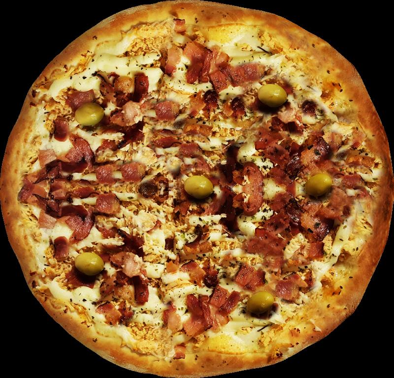 Pizza Caipira - Frango com Catupiry e Bacon