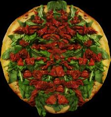 Pizza de Tomate Seco com Rúcula