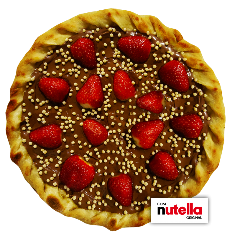 Pizza de Morango com Nutella Original